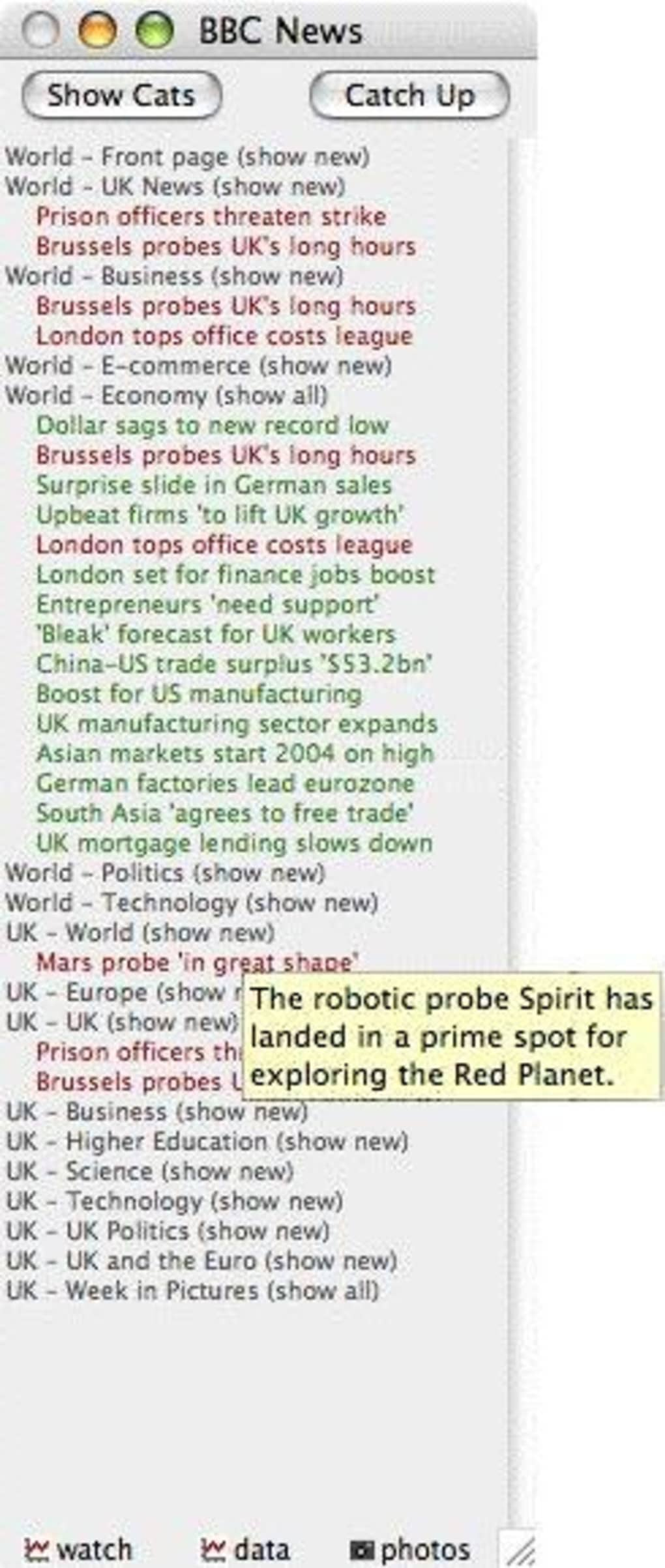 BBC News client