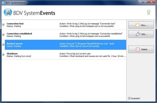BDV SystemEvents
