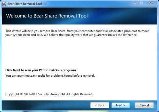 BearShare Removal Tool