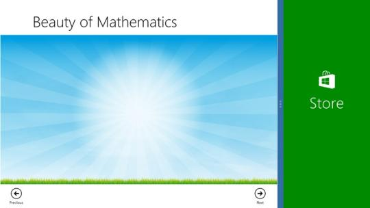 Beauty of Math for Windows 8