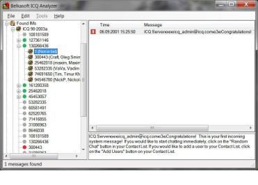 Belkasoft ICQ Analyzer
