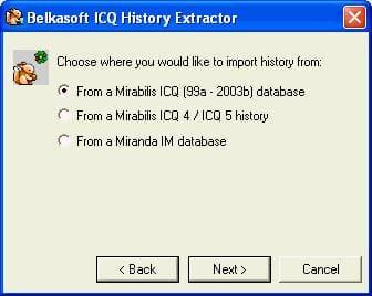 Belkasoft ICQ History Extractor