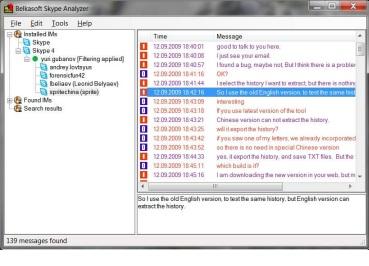 Belkasoft Skype Analyzer Pro