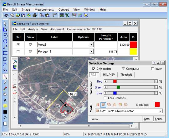 Bersoft Image Measurement
