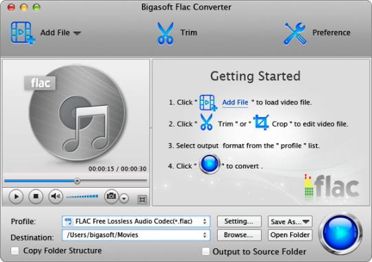 Bigasoft FLAC Converter