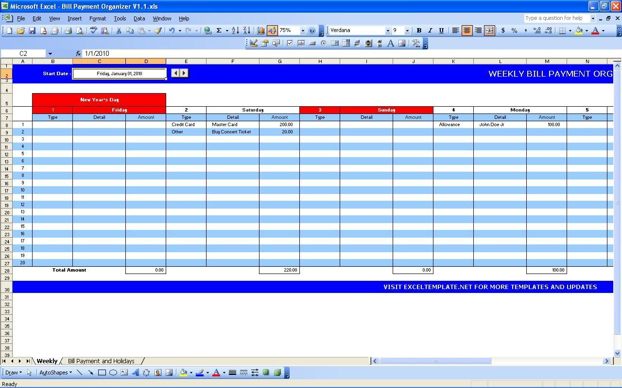 Bill Payment Planner