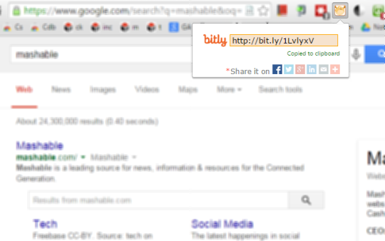 Bitly Chrome Extension