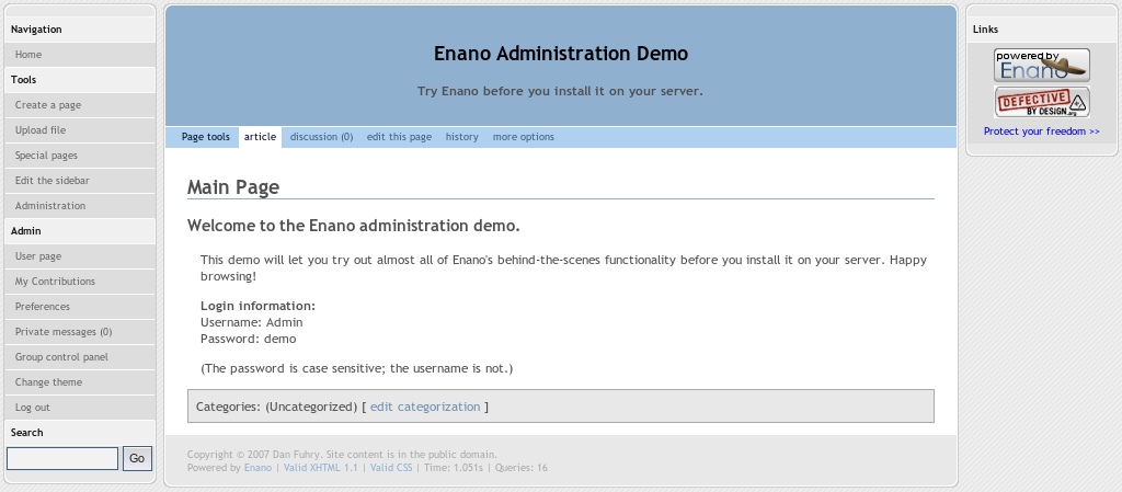 Bitnami Enano CMS Stack