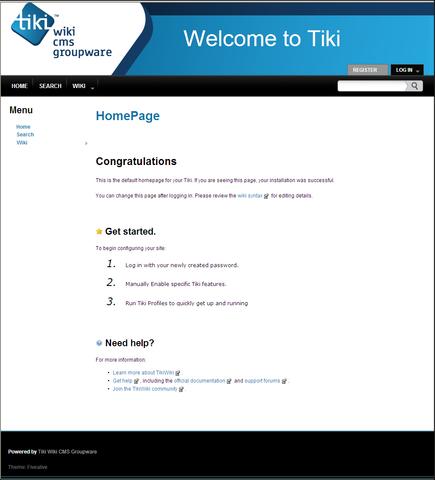 Bitnami Tiki Wiki CMS Groupware Stack