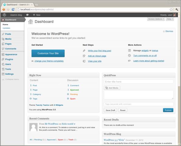 Bitnami WordPress Module