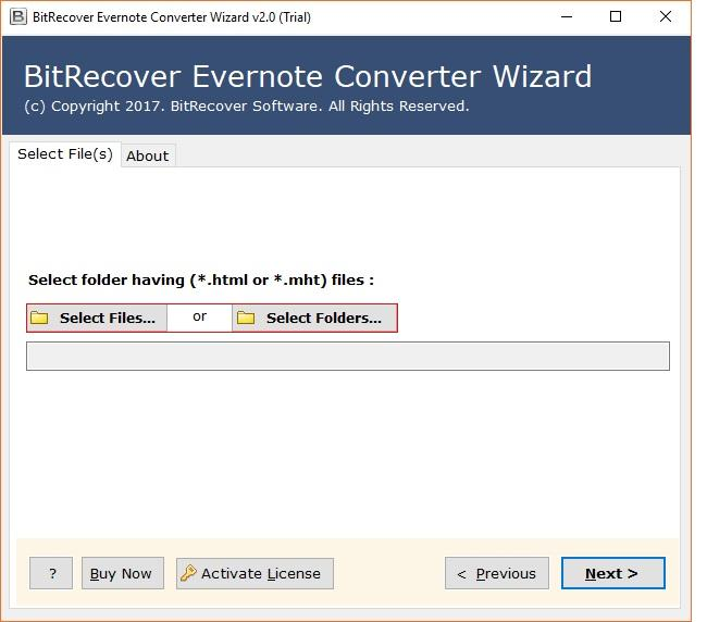 BitRecover Evernote Converter Wizard