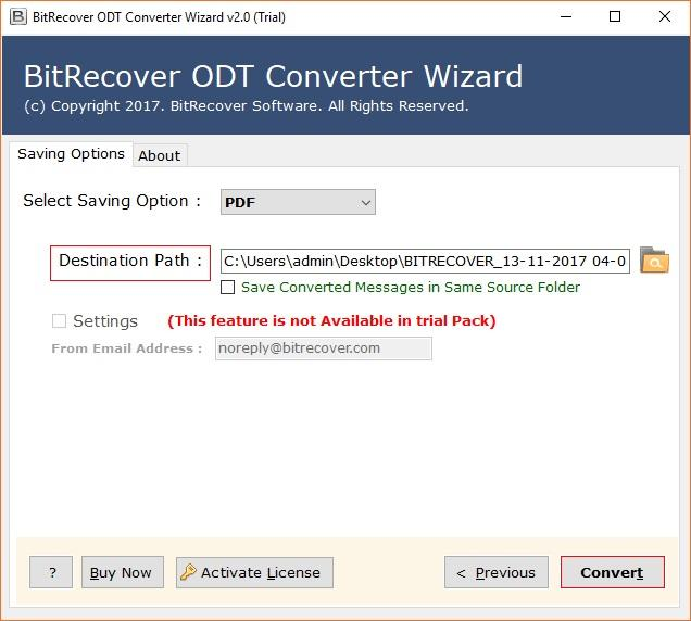 BitRecover ODT Converter Wizard