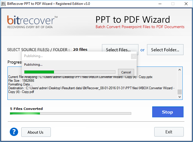 BitRecover PPT to PDF Wizard