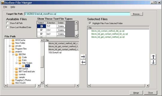 BizBee File Merger