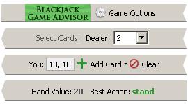 Blackjack Game Advisor