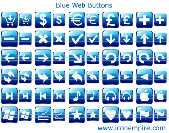 Blue Web Buttons