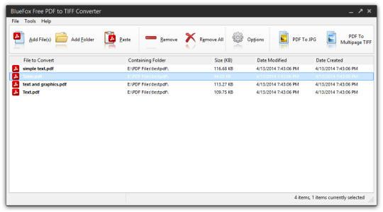 BlueFox Free PDF to TIFF Converter