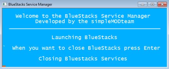 BlueStacks Service Manager