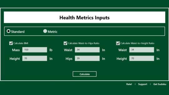 BMI Calculator Lite for Windows 8