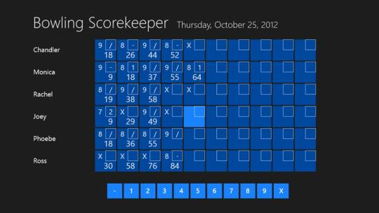 Bowling Scorekeeper for Windows 8