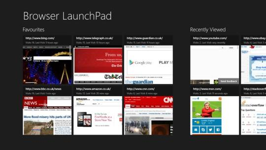 Browser LaunchPad for Windows 8
