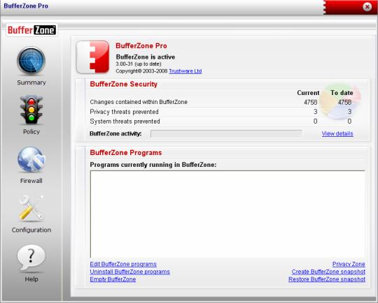 BufferZone Pro for Windows 7
