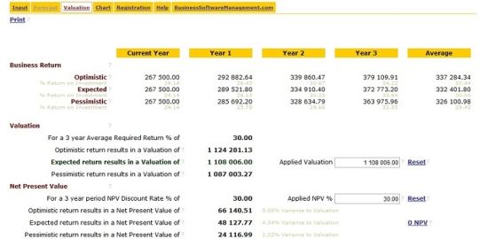 Business Valuation Software