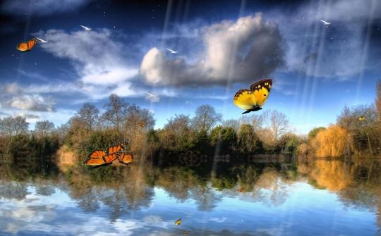 Butterfly Lake Screensaver
