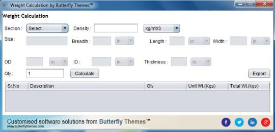 Butterfly Themes Free Weight Calculator