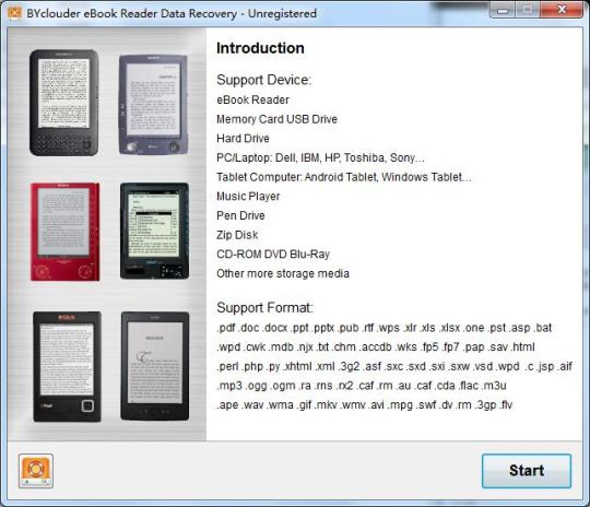 BYclouder eBook Reader Data Recovery