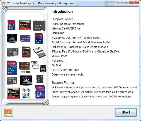 BYclouder Memory Card Data Recovery