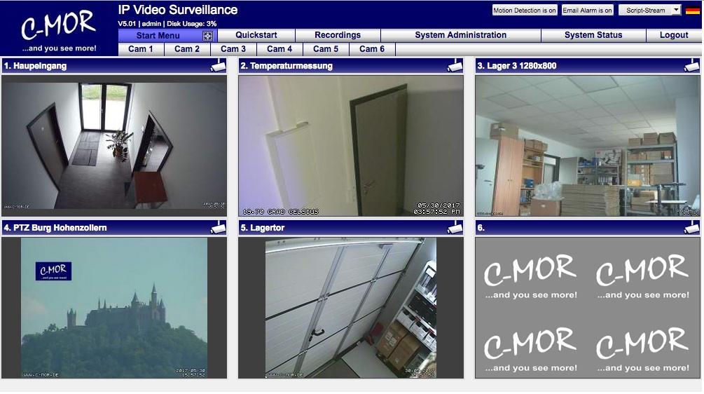 C-MOR IP Video Surveillance