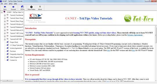 C#.NET - TekTips Video Tutorials