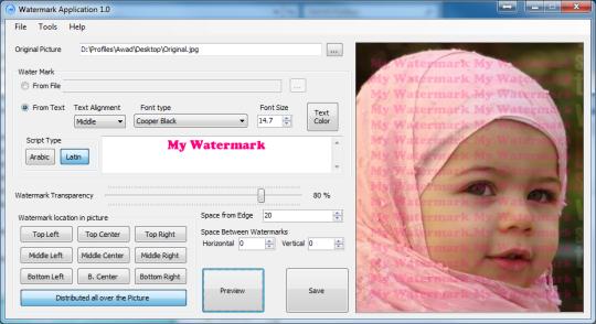 C4 Watermark Application