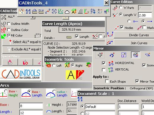 CADinTools Macros For CorelDRAW
