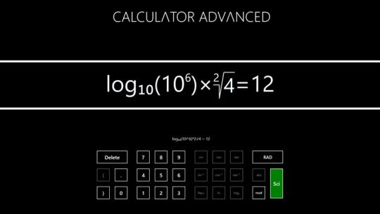 Calculator Advanced for Windows 8