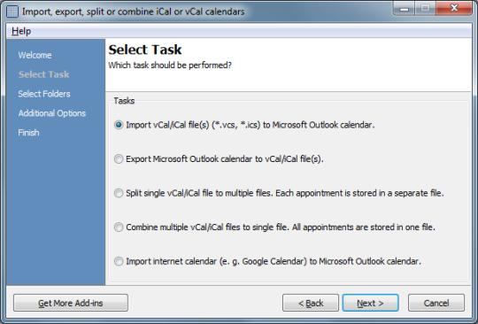 Calendar ImportExport for Outlook