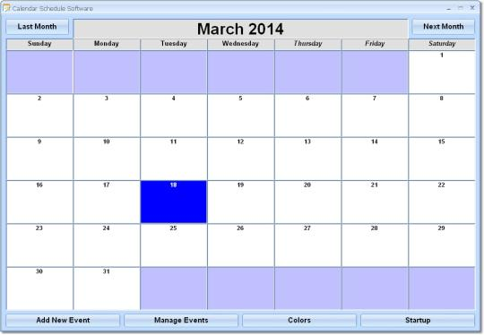 Calendar Schedule Software