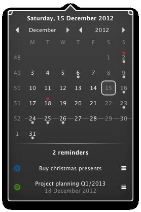 CalendarMenu