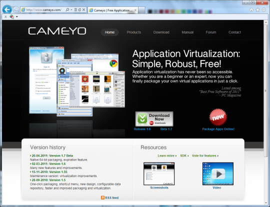 Cameyo Online Application Virtualization