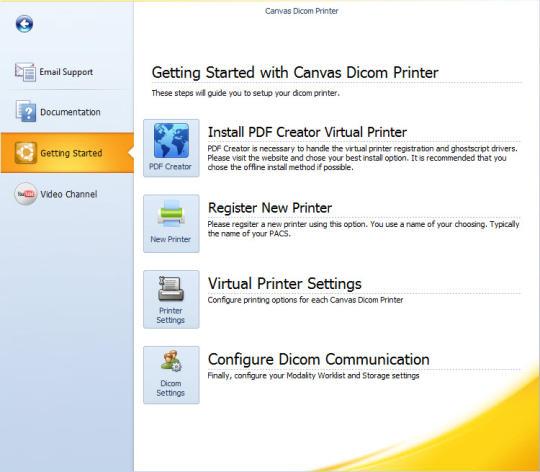 Canvas Dicom Printer