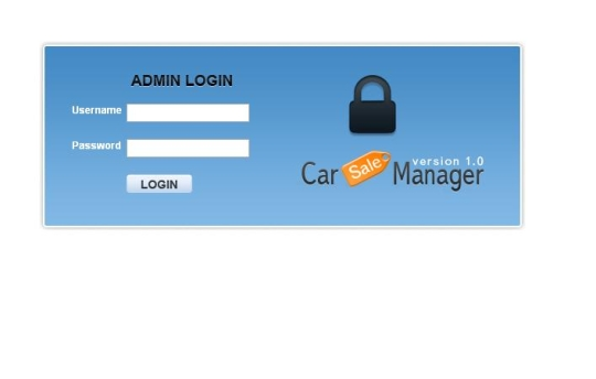 Car Sale Manager