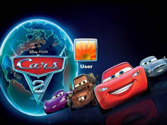Cars Logon Screen