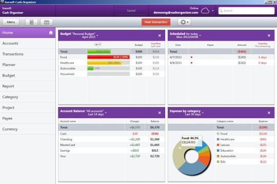Cash Organizer Desktop