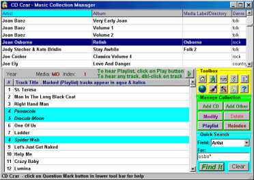 CD Czar Music Collection Manager
