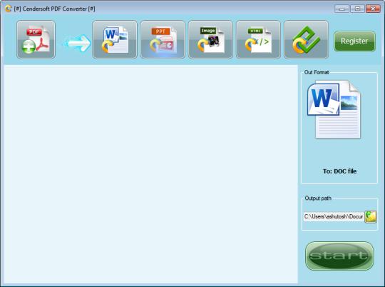 Cendarsoft PDF Converter