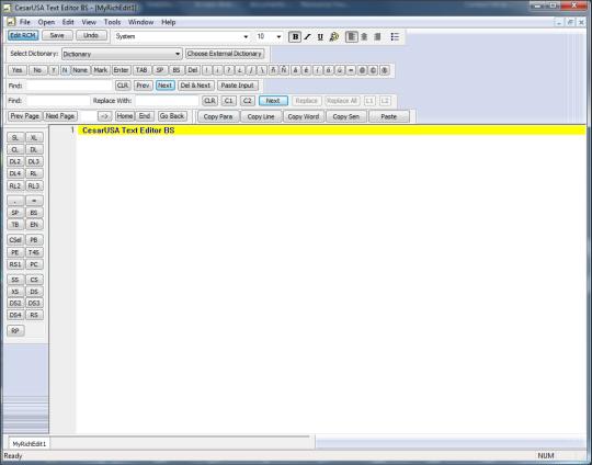 CesarUSA Text Editor BS