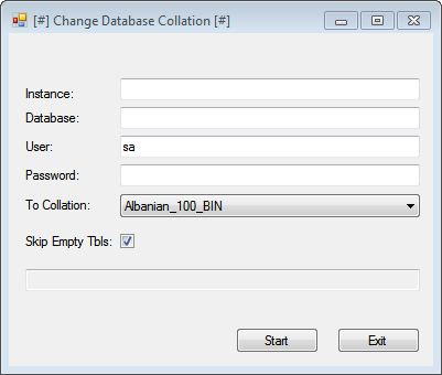 Change Database Collation