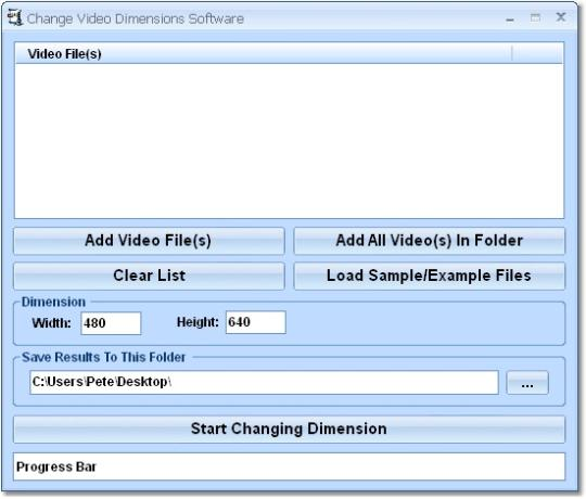 Change Video Dimensions Software