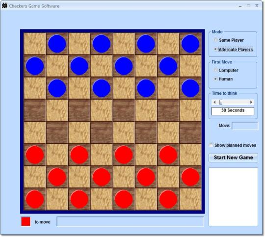 Checkers Game Software